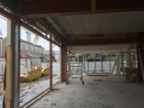 bouwkundig stalen frame voor winkel